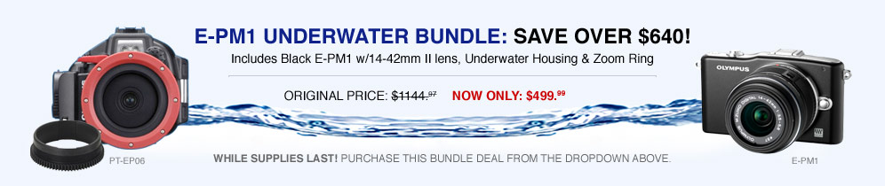 E-PM! Underwater bundle: Save over $640!
